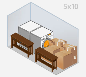 5u0027 x 10u0027 unit & Size Guide - Columbia Storage Depot